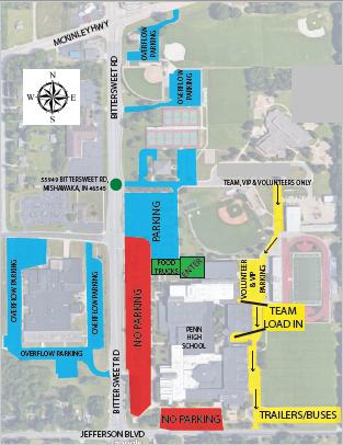 Penn HS Parking Map