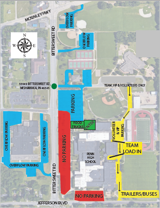 Penn HS Parking Map